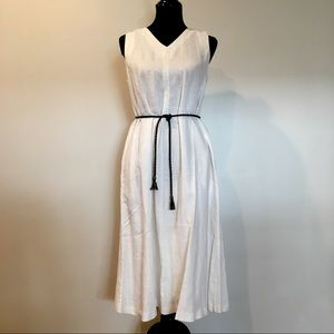 NWT • Philosophy • white sleeveless linen dress